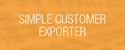 simple customer exporter